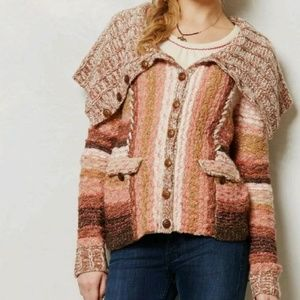 ANTHRO Sleeping On Snow Ouary Sweater Cardigan